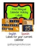 FREE Bilingual Calendar Holidays