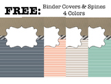 FREE Binder Covers & Spines 4 colors