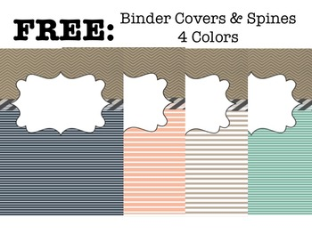 free binder covers spines 4 colors by kady did doodles tpt