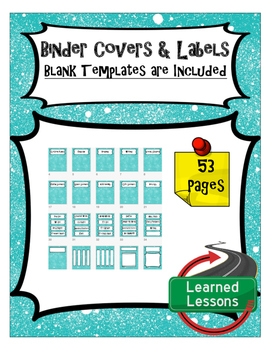 FREE Binder Covers and Classroom Labels For All Subjects