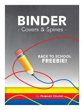 FREE! Binder Spines and Covers for Back to School