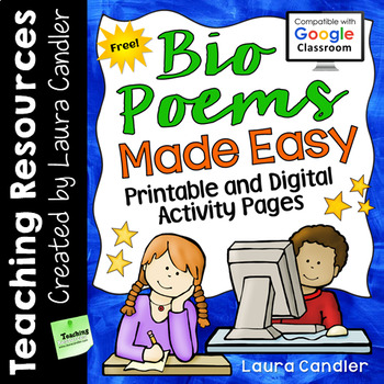FREE Bio Poems Made Easy (Printable and Digital)