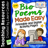 FREE Bio Poems Made Easy (Printable and Digital)