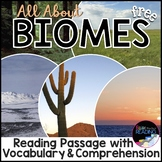 FREE Biomes Activity: Biomes Reading Passage, Vocabulary &