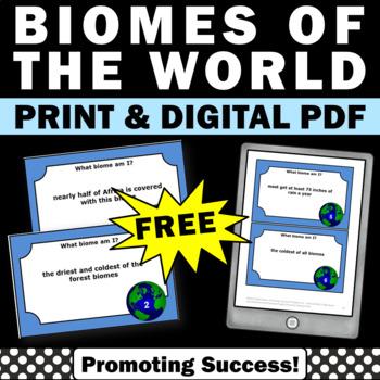 FREE Biomes Grade 5, Biomes Habitats, Biomes Task Cards, Earth Science Review