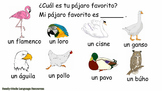 FREE Birds in Spanish PowerPoint Presentation