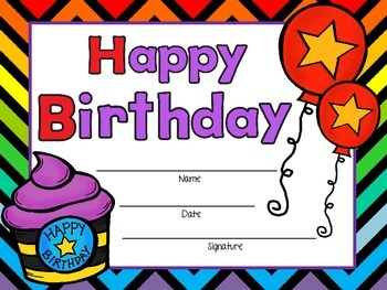 FREE Birthday Certificates Boy and Girl