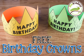 FREE Birthday Crown & Certificate