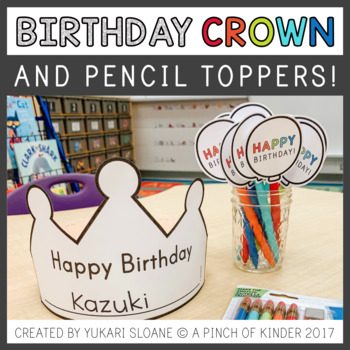 Interactive Birthday Crown & Pencil Topper
