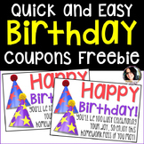 FREE Birthday NO HOMEWORK Coupons FREEBIE