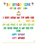 FREE Birthday Song/Poem
