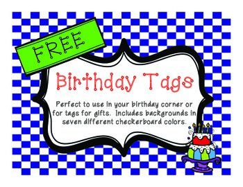 FREE Birthday Tags