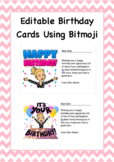 FREE Bitmoji Birthday Cards Editable Template