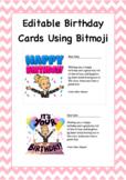 FREE Bitmoji Birthday Cards Editable Template