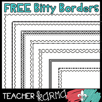 FREE Bitty Borders - Small Borders to Fit Your Educational Resources