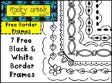 FREE Black and White Border Frames Clip Art !