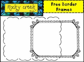 FREE Black and White Border Frames Clip Art !