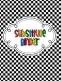 {FREE!} Black and White Theme Teacher Binder Covers and Spines