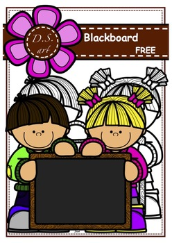 FREE Blackboard Digital Clipart (color and black&white)