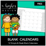 FREE Blank Calendars {A Hughes Design}