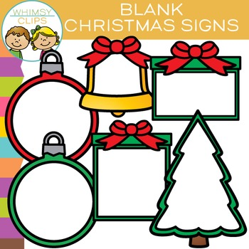 Free Blank Signs for Christmas Clip Art