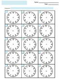 FREE Blank Clock Faces Worksheet