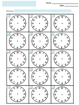 photo regarding Clock Faces Printable called Cost-free Blank Clock Faces Worksheet