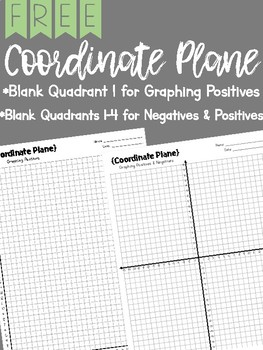 FREE Blank Coordinate Planes Graph