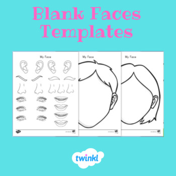 FREE Blank Faces Templates