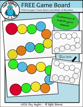 FREE Blank Game Board Clip Art Set - Chirp Graphics