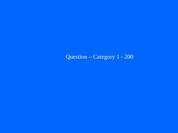 FREE Blank Jeopardy Game Template: 3 Category Jeopardy
