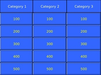 Jeopardy powerpoint templates free download gallery for Jeopardy template powerpoint 2007
