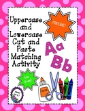 FREEBIE! ABC Cut and Paste Matching Activity