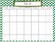 FREE Blank Monthly Calendars (Polka Dot)
