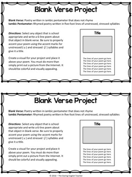 FREE Blank Verse Project
