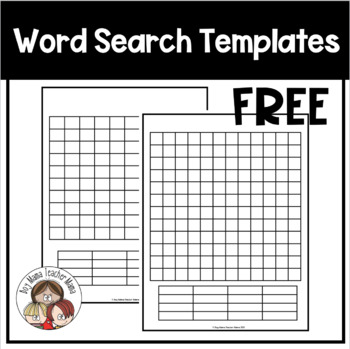 FREE Blank Word Search
