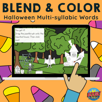 *FREE Blend & Color: Halloween Multisyllabic Words - Phone