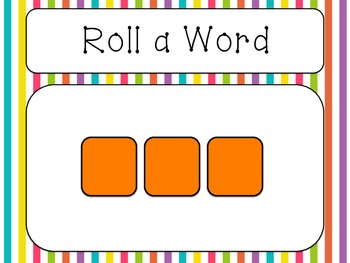 FREE Roll a Word & Recording Sheets - Blending Activity