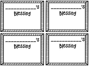 FREE Blessings Board Dark Rainbow (Classroom Display)