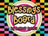 FREE Blessings Board Dark Rainbow (Classroom Display)