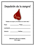 FREE Blood Drive Flyer - Spanish