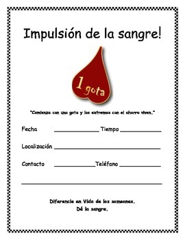 FREE Blood Drive Flyer - Spanish
