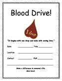 FREE Blood Drive Flyer - English