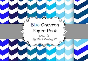 {FREE} Blue Chevron Paper Pack