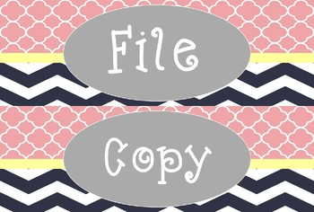 FREE Blush, Gold, & Navy Editable Labels