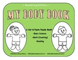 Basic Anatomy Body Parts Puzzle Book--boy&girl