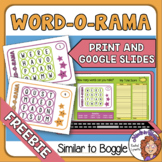 Similar to Boggle Word-0-Rama Task Card Freebie