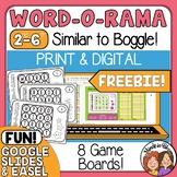 Similar to Boggle Word-0-Rama Task Card and Google Slide Freebie