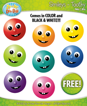 FREE Toothy Smile Smiley Faces Emotions Clip Art Graphics