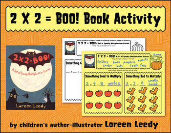 FREE Book Activity for 2 X 2 = BOO! A Set of Spooky Multip
